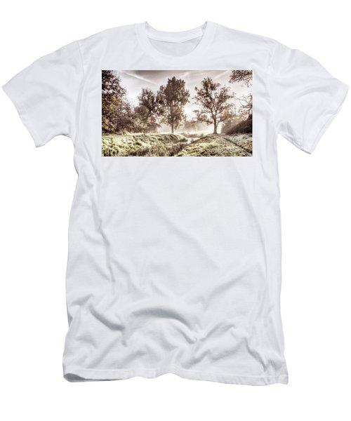 Pictorial Autumn Landscape Artistic Picture Men's T-Shirt (Athletic Fit)