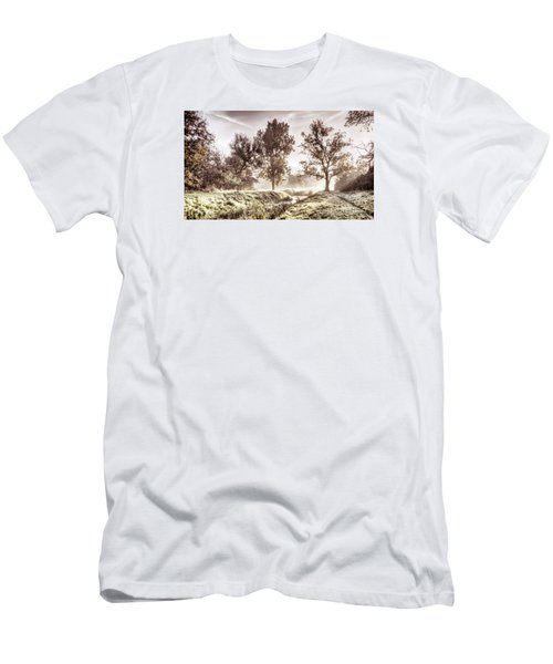 Pictorial Autumn Landscape Artistic Picture Men's T-Shirt (Athletic Fit)
