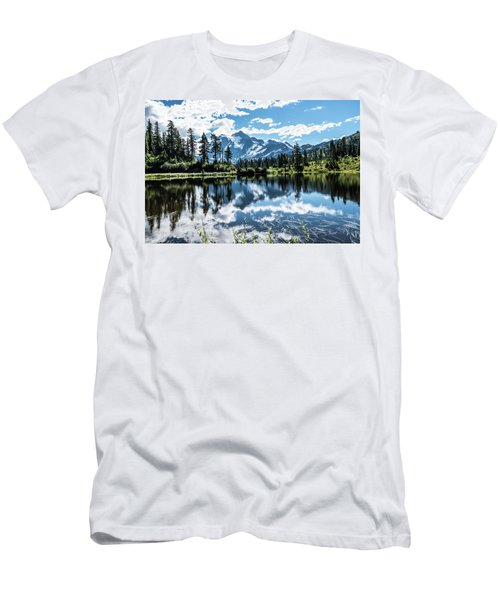 Picture Lake Men's T-Shirt (Athletic Fit)