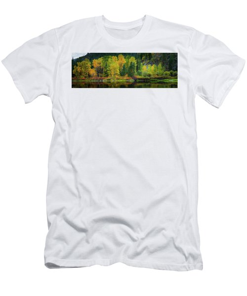 Picturesque Tumwater Canyon Men's T-Shirt (Slim Fit) by Dan Mihai