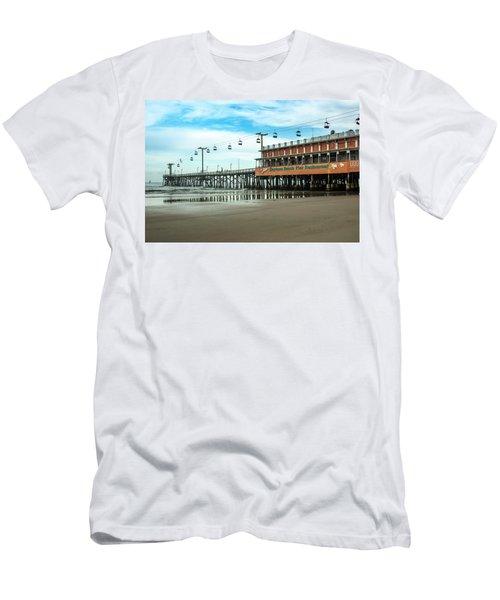 Men's T-Shirt (Slim Fit) featuring the photograph Pier Daytona Beach by Carolyn Marshall