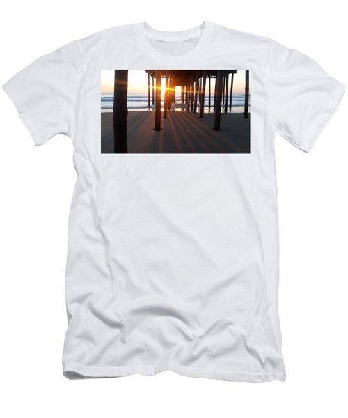 Pier Shadows Men's T-Shirt (Slim Fit) by Robert Banach
