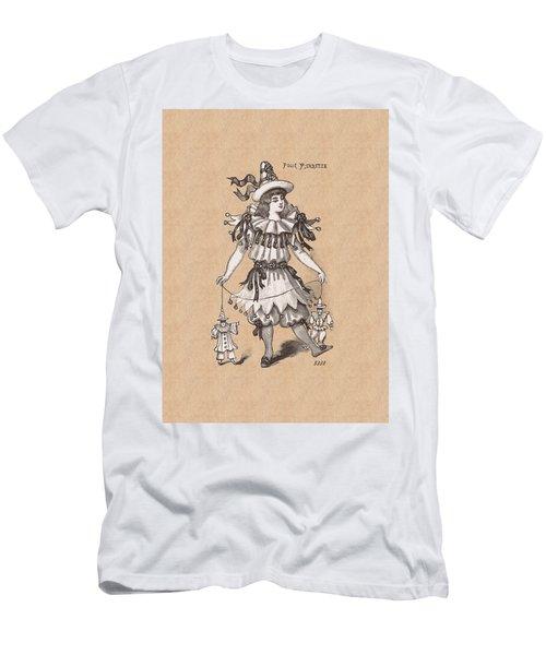 Pierrette With Puppets Men's T-Shirt (Athletic Fit)