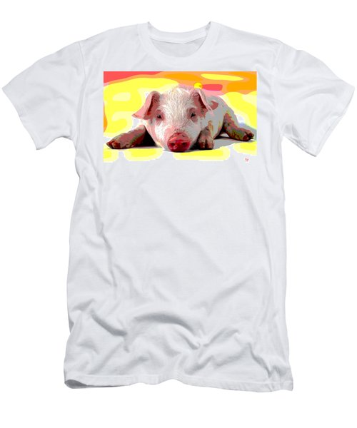 Pig In A Poke Men's T-Shirt (Slim Fit) by Charles Shoup