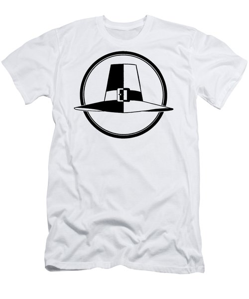Pilgrim Hat - Tee Shirt Men's T-Shirt (Athletic Fit)