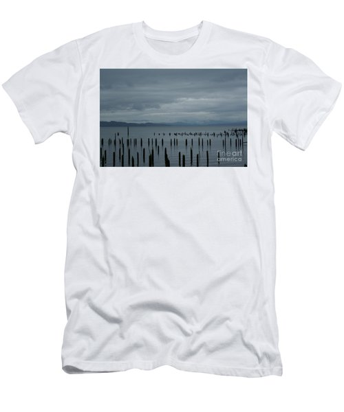 Pilings On Columbia River Men's T-Shirt (Athletic Fit)