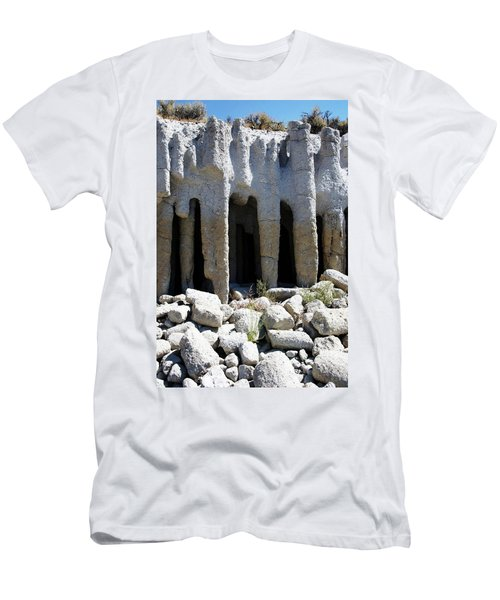 Pillars At Crowley Lake Men's T-Shirt (Slim Fit) by Michael Courtney