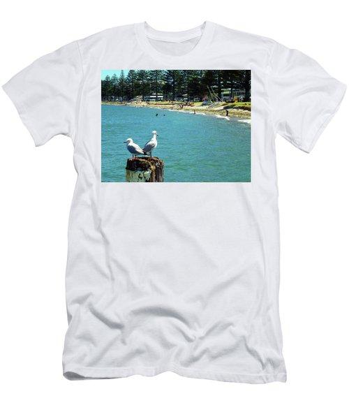 Pilot Bay Beach 4 - Mount Maunganui Tauranga New Zealand Men's T-Shirt (Slim Fit) by Selena Boron