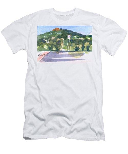 Men's T-Shirt (Slim Fit) featuring the painting Pilot Knob Mountain W404 by Kip DeVore