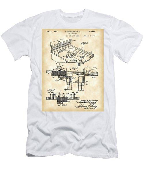 Pinball Machine Patent 1939 - Vintage Men's T-Shirt (Athletic Fit)