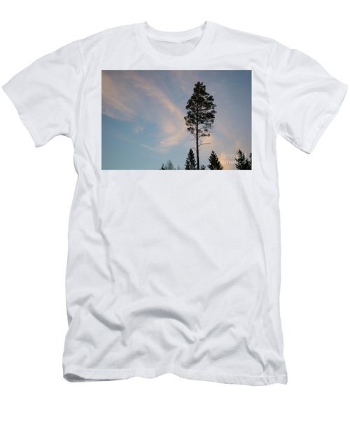 Pine Tree Silhouette Men's T-Shirt (Slim Fit) by Kennerth and Birgitta Kullman