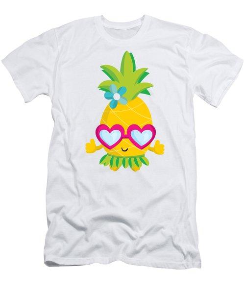 Pineapple Hula Men's T-Shirt (Athletic Fit)