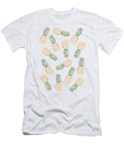 Pineapples Men's T-Shirt (Athletic Fit)