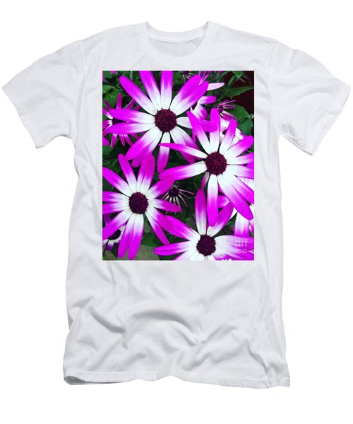 Pink And White Flowers Men's T-Shirt (Slim Fit) by Vizual Studio