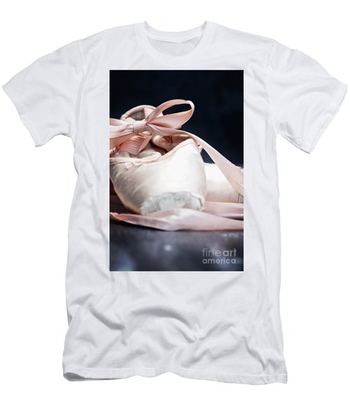 Pink Ballerina Pointe Shoes Men's T-Shirt (Athletic Fit)