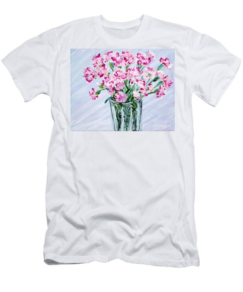 Pink Carnations In A Vase. For Sale Men's T-Shirt (Athletic Fit)