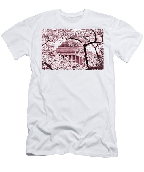 Pink Cherry Trees At The Jefferson Memorial Men's T-Shirt (Athletic Fit)