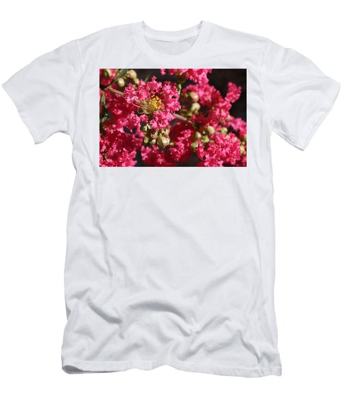 Men's T-Shirt (Athletic Fit) featuring the photograph Pink Crepe Myrtle Flowers by Debi Dalio
