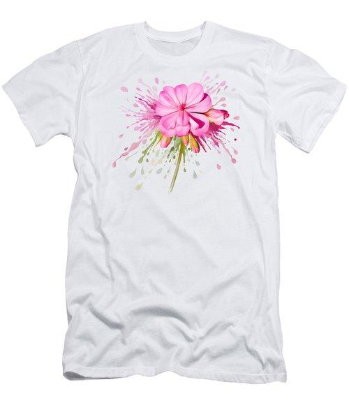 Pink Eruption Men's T-Shirt (Athletic Fit)