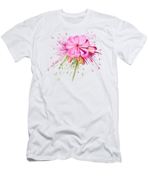 Men's T-Shirt (Athletic Fit) featuring the painting Pink Eruption by Ivana Westin
