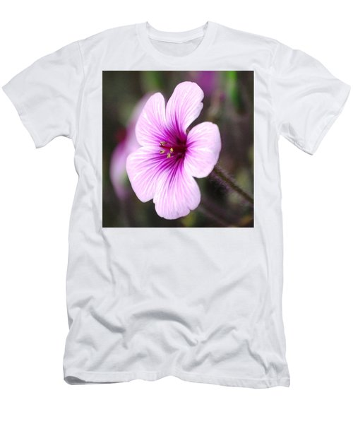 Men's T-Shirt (Slim Fit) featuring the photograph Pink Flower by Sumoflam Photography
