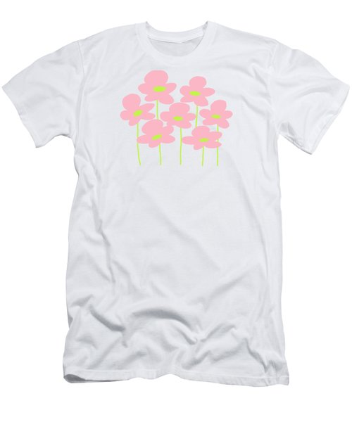Pink Flowers #1 Men's T-Shirt (Athletic Fit)