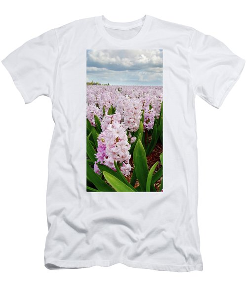 Pink Hyacinth  Men's T-Shirt (Slim Fit) by Mihaela Pater
