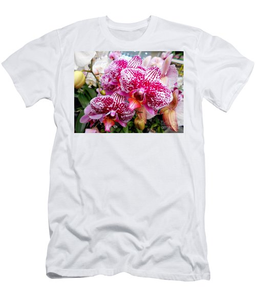 Pink Moth Orchids Men's T-Shirt (Athletic Fit)