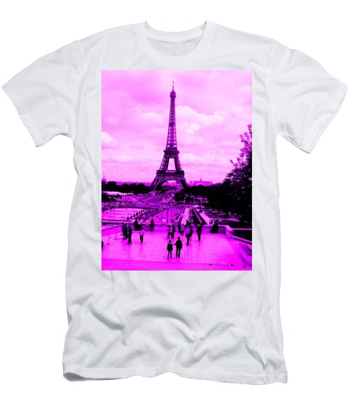 Men's T-Shirt (Athletic Fit) featuring the photograph Pink Paris by Michelle Dallocchio
