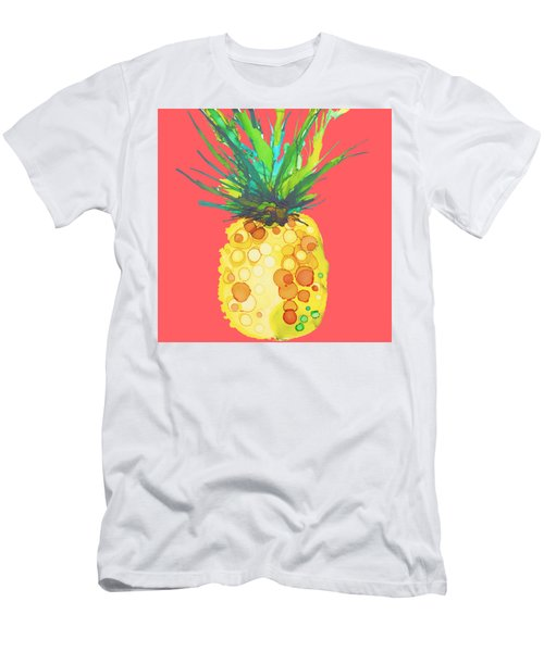 Pink Pineapple Daquari Men's T-Shirt (Slim Fit) by Marla Beyer