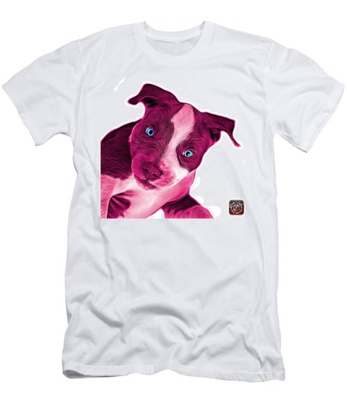 Pink Pitbull Dog Art 7435 - Wb Men's T-Shirt (Athletic Fit)