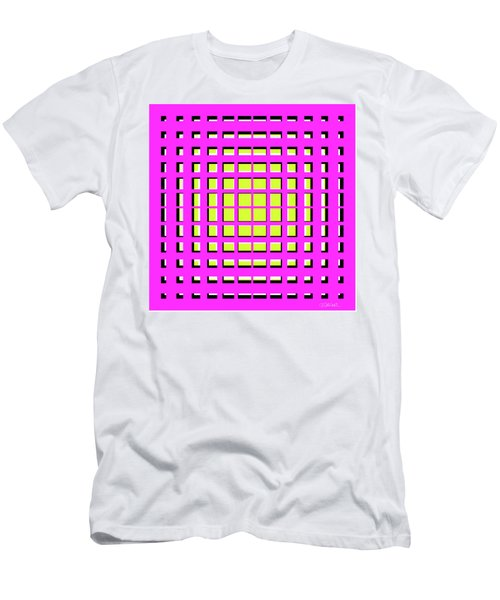 Pink Polynomial Men's T-Shirt (Athletic Fit)