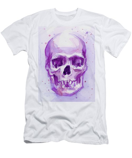 Pink Purple Skull Men's T-Shirt (Athletic Fit)