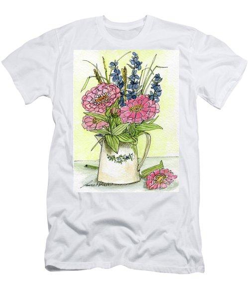 Pink Zinneas Men's T-Shirt (Athletic Fit)