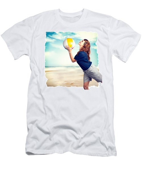 Pinup Beach Fun Men's T-Shirt (Athletic Fit)