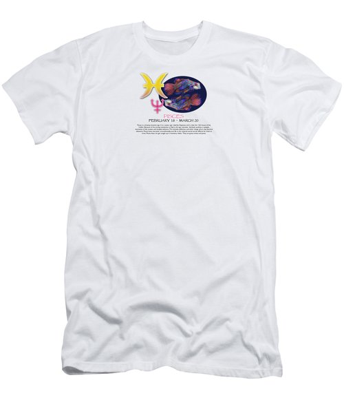 Pisces Sun Sign Men's T-Shirt (Athletic Fit)
