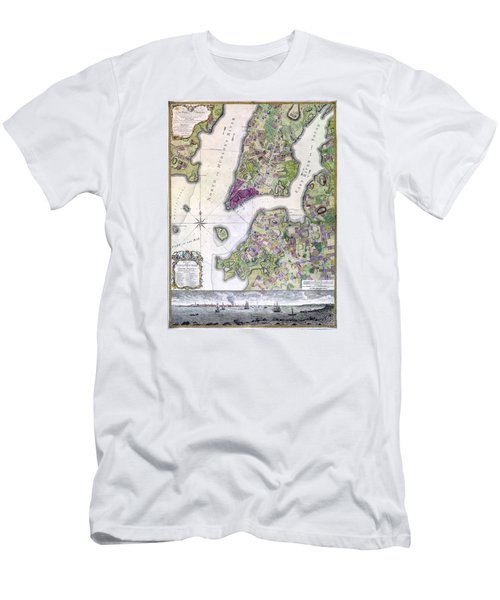 Plan Of Manhattan New York 1766 Men's T-Shirt (Athletic Fit)