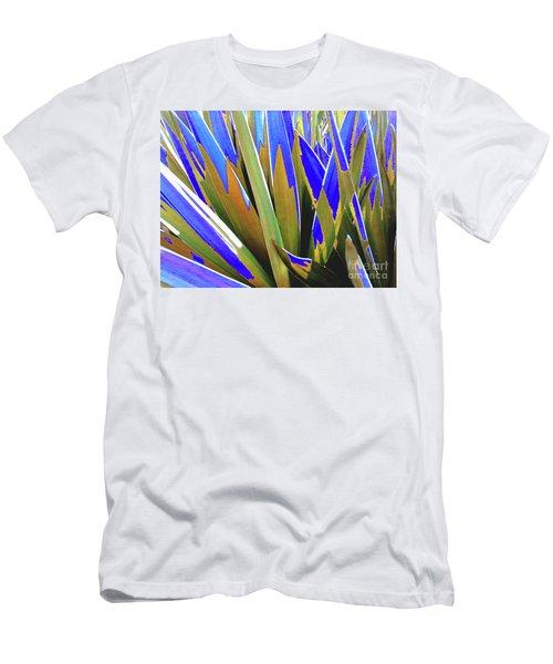 Plant Burst - Blue Men's T-Shirt (Athletic Fit)
