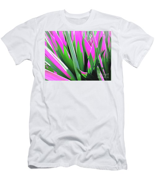 Men's T-Shirt (Athletic Fit) featuring the photograph Plant Burst - Pink by Rebecca Harman