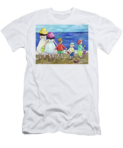 Playing At The Seashore Men's T-Shirt (Athletic Fit)