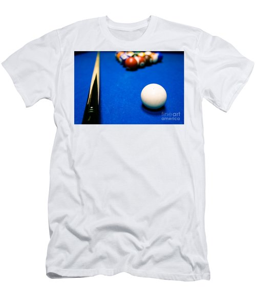 8 Ball Pool Table Men's T-Shirt (Athletic Fit)