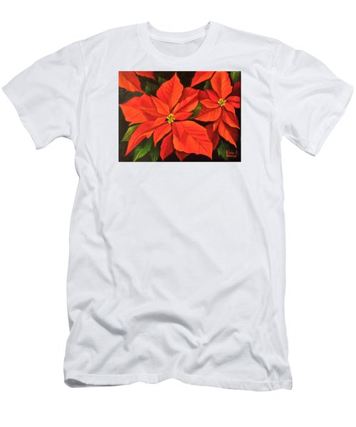 Poinsettia  Men's T-Shirt (Slim Fit) by Katia Aho