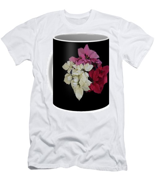 Men's T-Shirt (Slim Fit) featuring the jewelry Poinsettia Tricolor Mug  by R  Allen Swezey