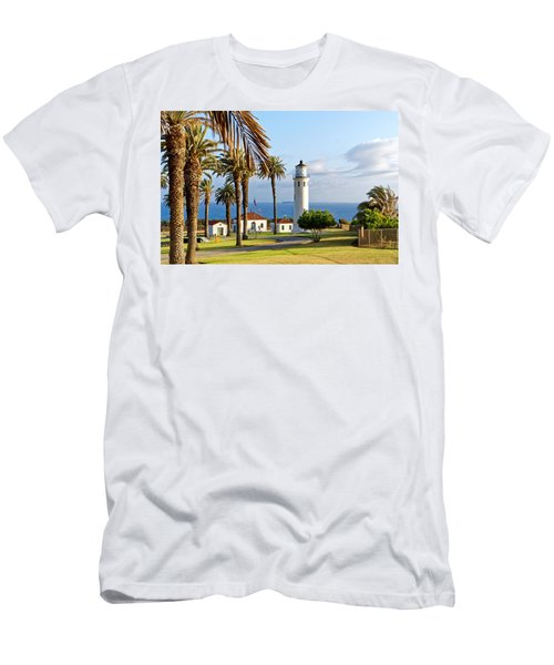Men's T-Shirt (Athletic Fit) featuring the photograph Point Vicente Lighthouse by Michael Hope