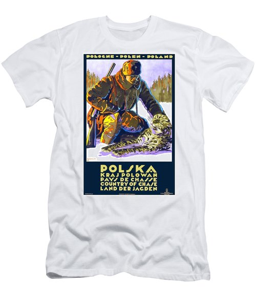 Poland, Country Of Chase, Hunting Season, Winter, Travel Poster Men's T-Shirt (Athletic Fit)