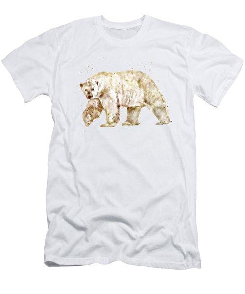 Polar Bear Watercolor Men's T-Shirt (Athletic Fit)