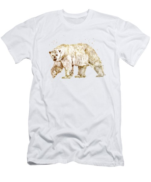 Polar Bear Watercolor Men's T-Shirt (Athletic Fit)