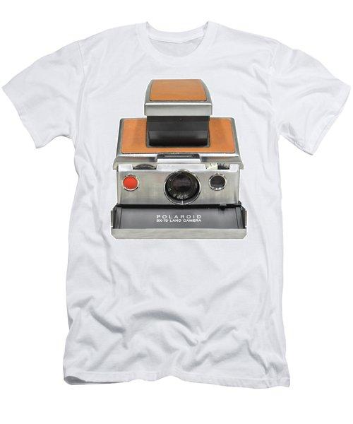 Polaroid Sx70 On White Men's T-Shirt (Athletic Fit)