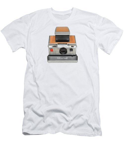 Polaroid Sx70 On White Men's T-Shirt (Athletic Fit)