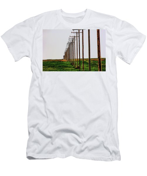 Poles In A Row Men's T-Shirt (Athletic Fit)